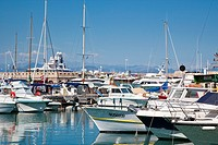 Boats and yachts in Antibes Marina, Antibes, Cote d'Azure, France