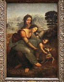 Leonardo da Vinci (1452-1519), The Virgin and Child with Saint Anne.  Paris, Musée Du Louvre