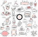 various types of life goods in illustration