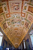 Gallery of the Maps, Musei Vaticani, Rome, Italy