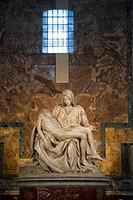 Michelangelo´s Pieta´, St  Peter´s Basilica, Rome, Italy