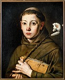 Italy, Varallo, painting of Saint Anthony
