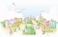 illustrated urban lifestyle