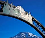 Entrance Sign to Weed California