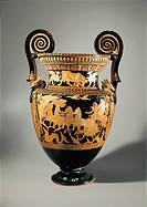 Italy, Lazio, Civita Castellana, Falerii, Volute krater vase used to mix wine and water