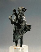 GALLO-ROMAN ART Bronze statuette OF GOD BY SILVANA Glanum  Saint-Remy-De-Provence, Musée Archéologique (Archaeological Museum)