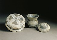 Prehistory, Spain - Ceramic bell-shaped vase from Ciempozuelos, Madrid.  Madrid, Museo Arqueológico Nacional