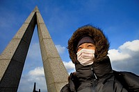 Tourist in Soya Cape,Wakkanai,Hokkaido,Japan
