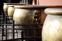Water urns inside of Forbidden City  Beijing  China