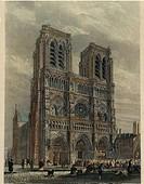 France, XIX century. Paris. Notre Dame. Incision  Paris, Bibliothèque Des Arts Decoratifs (Library)