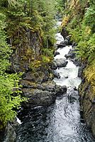 Englishman River and falls, on Vancouver Island, British Columbia, Canada