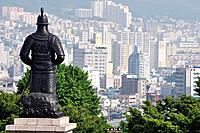 Busan (South Korea): view of the city from Yongdusan Park