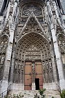 Side door of Notre-Dame Cathedral of Rouen, in Seine-Maritime department  Upper Normandy region  France