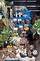 Medicinal herbs and traditional medicine for sale in the Belen Market, Iquitos, Loreto, Peru
