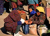 Bhutan, Thimpu, market, people.