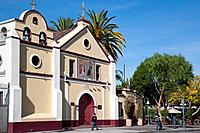 Our Lady Queen of Angels Nuestra Señora Reina de los Angeles, Old Colonial Spanish Quarter, Los Angeles, California, USA