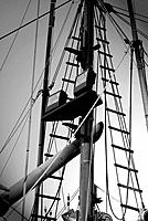 Rigging on commercial fishing boat, Charleston, Oregon