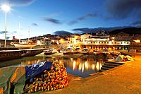 The harbour of Vila Franca do Campo at twilight  Sao Miguel island, Azores islands, Portugal
