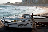 Two boats in Vilassar de Mar, Maresme, Barcelone, Catalonia, Spain