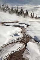 Hot Spring, Winter, Upper Geyser Basin, Yellowstone NP, WY