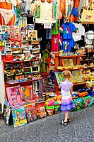 Little Girl Shopping Amalfi Italy Mediterranean Sea Coast Cruise Europe