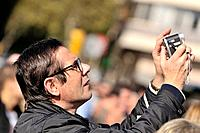 Man taking a picture, Barcelona, Catalonia, Spain.