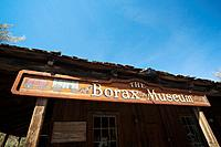 USA, California, Death Valley National Park, Furnace Creek, Borax Museum, sign