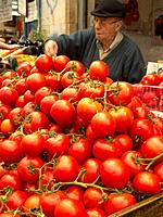 Produce market in Jerusalem, Israel