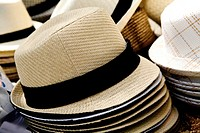 Fedora Hat on a Street Vendor's Table