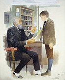 Children's literature - Edmondo De Amicis (1846-1908), Heart. The Headmaster. Drawing.
