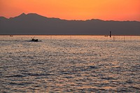Evening View of Ariake Sea, Yanagawa, Fukuoka, Japan
