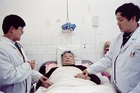 Photo essay. Chinese traditional medicine associated with modern techniques. Nanchang Hospital in the Jiangxi Province, China.