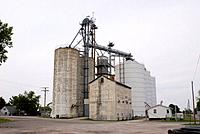 Grain silos in Atlanta Illinois, USA.