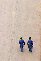 laborers, surface, factory, site, moving, together