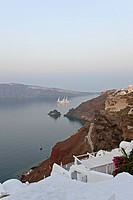 Town of Oia on the Greek island of Santorini, Cyclades Islands, Cyclades Prefecture, Greece, Europe