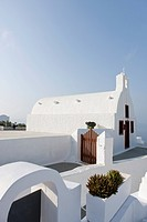 view of church in Santorini, Cyclades Islands, Cyclades Prefecture, Greece, Europe