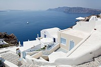 view of Oia in Santorini, Cyclades Islands, Cyclades Prefecture, Greece, Europe