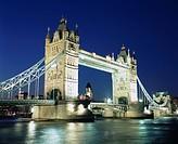 Evening View, Tower Bridge, London, United Kingdom, Europe