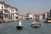 gondola on the Grand Canal, Venice, Italy, Europe