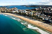 Aerial view of beachfront property in Sydney, Australia.