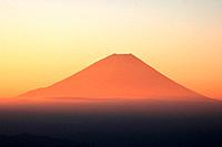 Mt. Fuji at dawn, Masuho Town, Yamanashi Prefecture, Japan