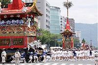 Tsujimawashi, Yamaboko Junko, Kankoboko, Gion Matsuri, Kyoto, Kyoto, Kinki, Japan