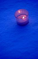 Candles on snow