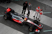 Lewis Hamilton GBR, Jenson Button GBR, Launch McLaren Mercedes, Berlim, Germany, 2011