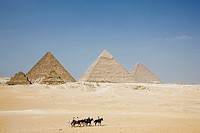 Pyramid, desert, Giza, Egypt, World Heritage, Africa