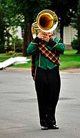 Performer Playing Marching Tuba in Parade