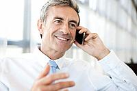 Portrait of businessman talking on Cell Phone