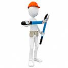 3d man with branch cutter