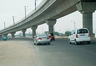Cars on the road, Mehrauli Gurgaon Road, Gurgaon, Haryana