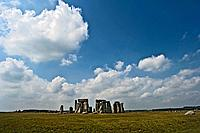 Stonehenge rock formation in field